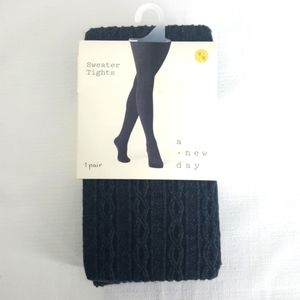 NWT Cable Knit Sweater Tights, a new day S/M